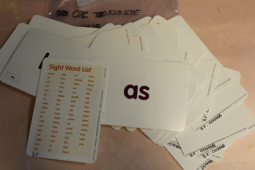 Flash Cards-Sight Words