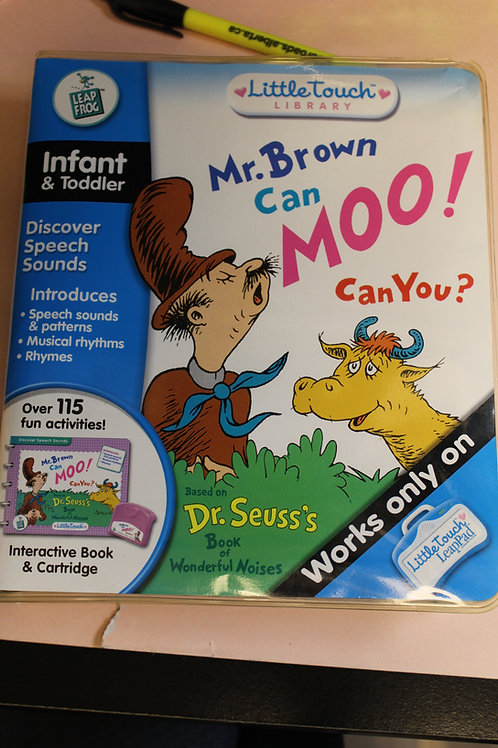 Leap Frog Leap Pad Mr. Brown Can Moo! Can You?