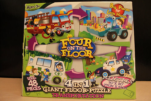 Transportation- 4 in 1 Floor Puzzles