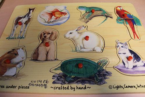 Peg Puzzle Animals
