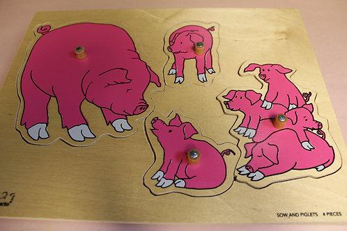Peg Puzzle Pigs