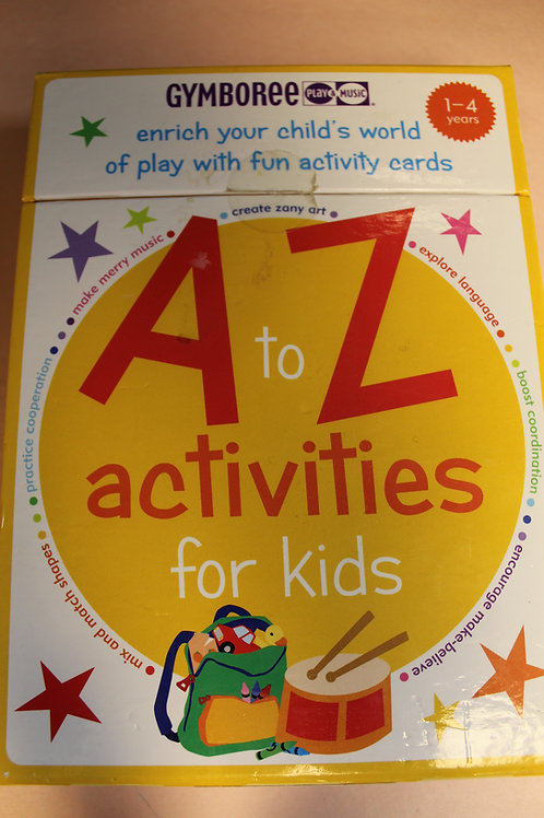 Activity Cards-A to Z Activities For Kids