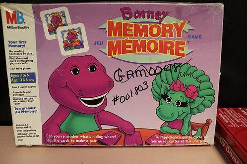 Game-Barney Memory