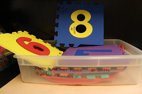 Foam Numbers Floor Mat in Bin