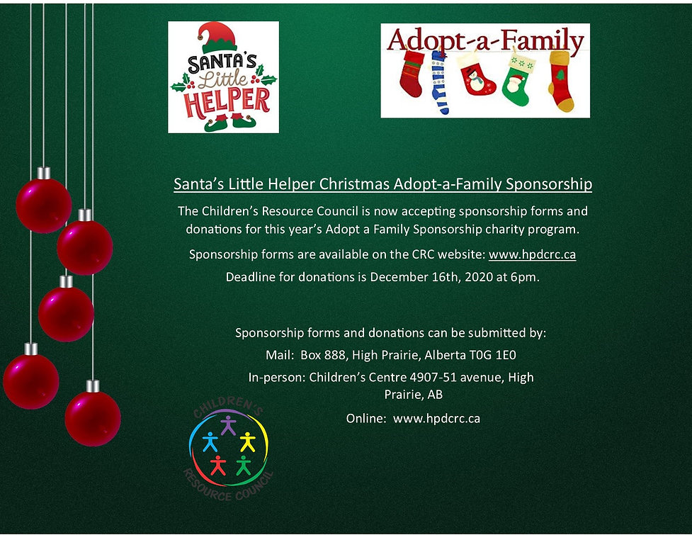 Santa's Little Helper  Adopt a family 20