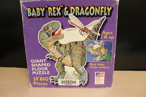 Baby Rex & Dragonfly Floor Puzzle