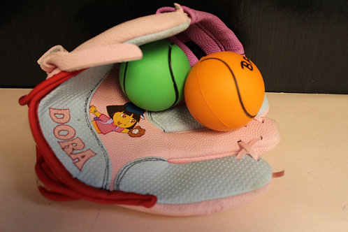 Baseball Glove & 2 Soft Balls-Dora