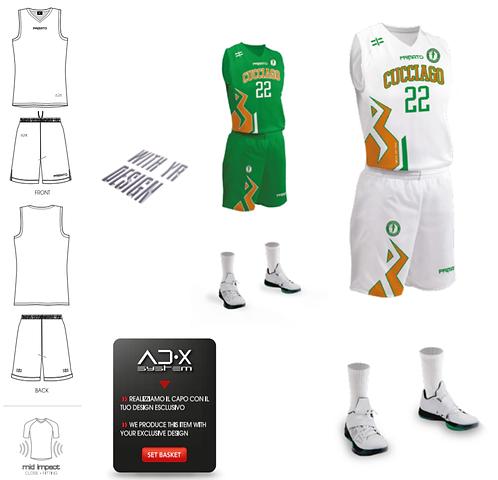 Divisa da gioco personalizzata - basket