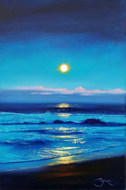 "Moon Rising (12""×18"")"