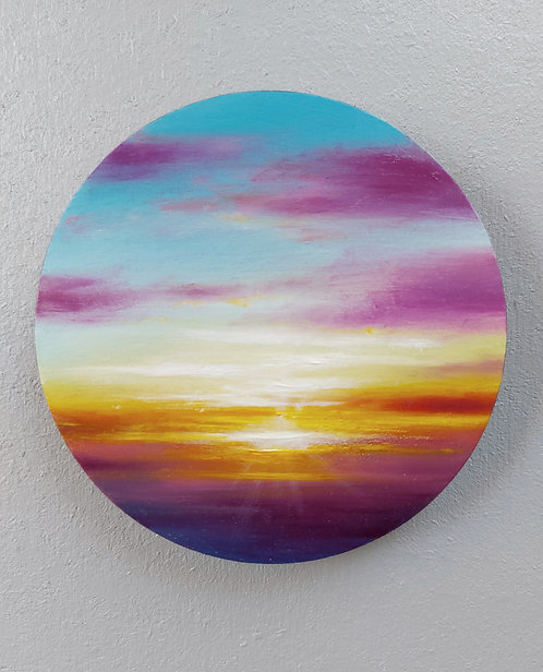 "Sunset study (5"")"