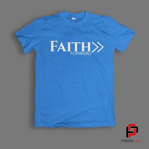 Faith Forward Blue T-Shirt