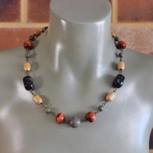 Stone & Wood Necklace
