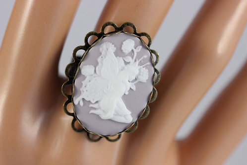 Lilac  Fairy Cameo Ring