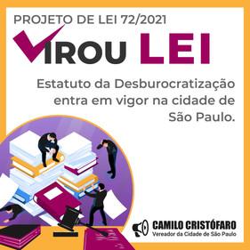 Agora é Lei: Estatuto da Desburocratização entra em vigor na cidade de São Paulo