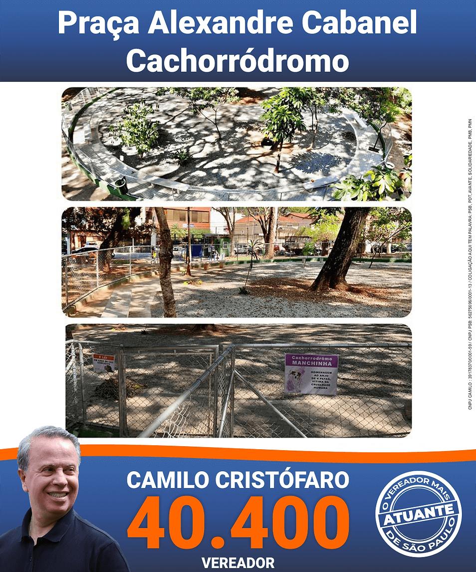 Camilo Cristófaro 40.400 vereador Cachorrodromo
