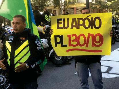 Camilo Cristófaro e a lei dos Motofretistas PL130/19