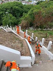 Escadão jardim cllímax Camilo Cristófaro no Ipiranga fazendo reformas, iluminação em LED, demarcação de vagas, Base da GCM, cachorródromos e quadras.png.jpg