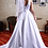 Thumbnail: Hand Made Wedding Dress Madame - Elegant A Line Satin Gown | Satin | Size 8