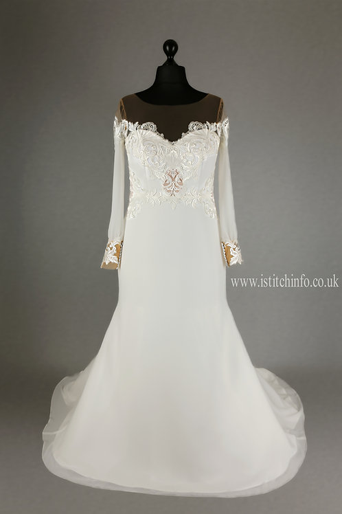 Hand Made Wedding Dress Charlotte - Full Length A Line | size 14