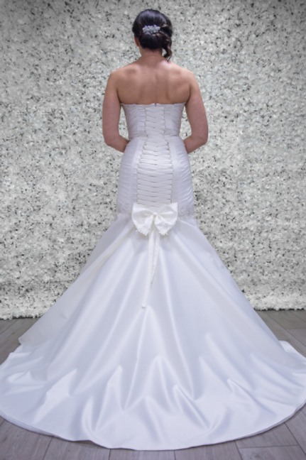Hand Made Wedding Dress Scarlet | Mermaid | Lace up | Satin | Size 12