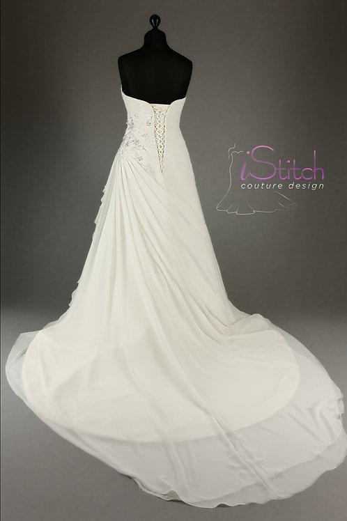 Hand Made Wedding Dress Fiona - Full Length A Line   Size 12