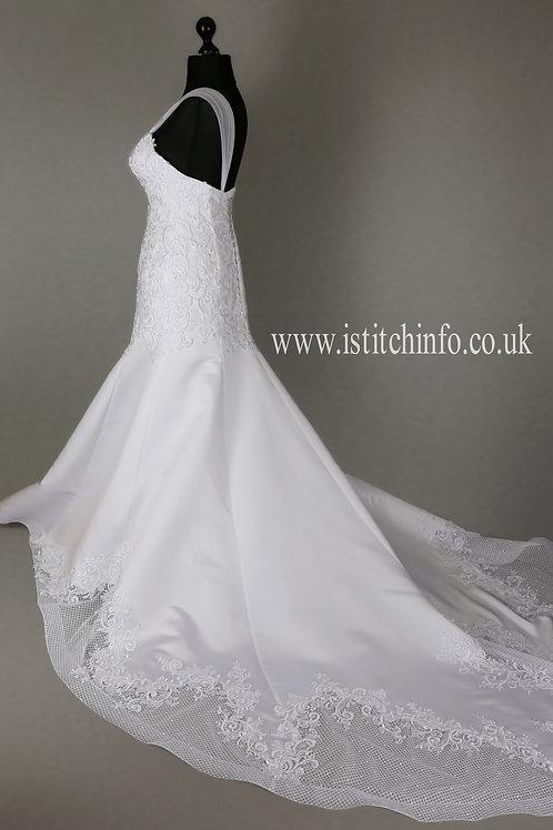 Hand Made Wedding Dress Emily - Full Length Mermaid | Size 12