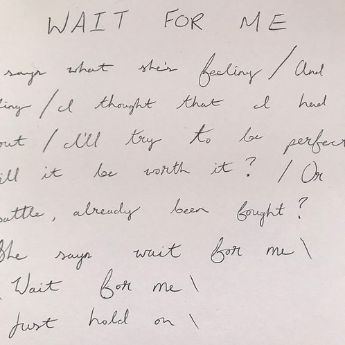 LIMITED Handwritten Lyrics