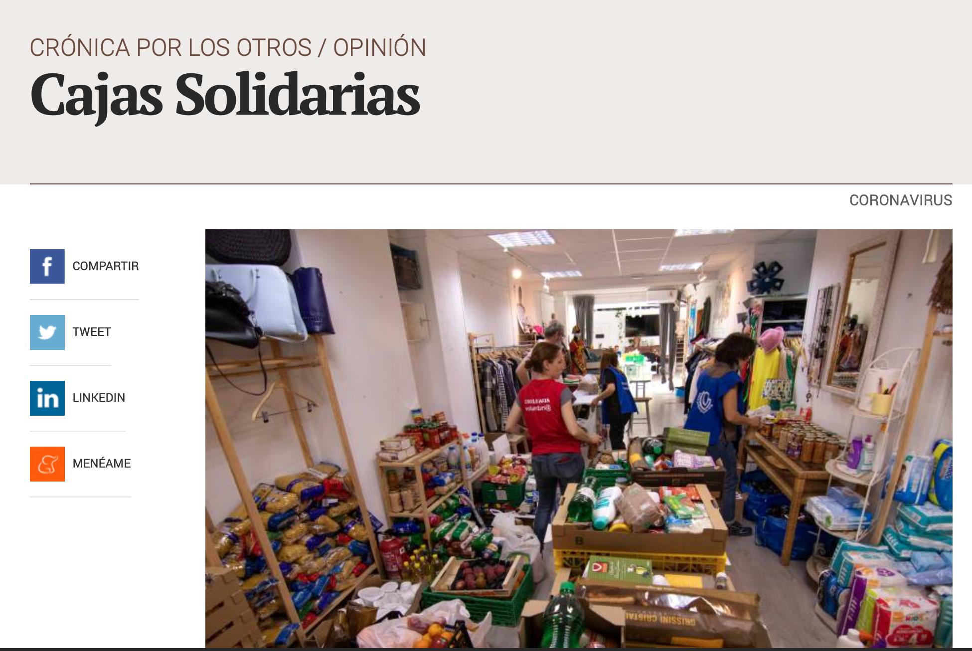 Cajas Solidarias. Valencia Plaza