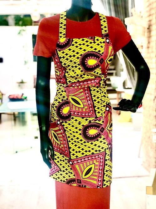 Delantal Tela Wax Africana
