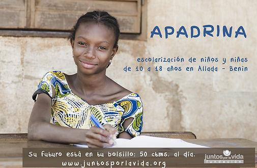 Apadrina en Allada Benin Juntos por la Vida