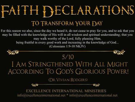 Faith Declarations No.5