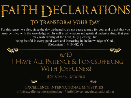 Faith Declarations No.6