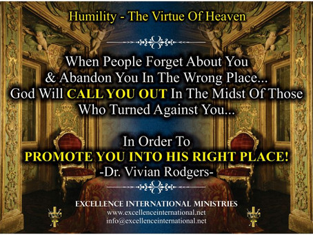 Humility-The Virtue Of Heaven!