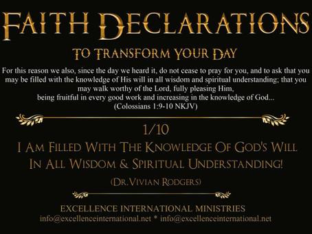 Faith Declarations No.1
