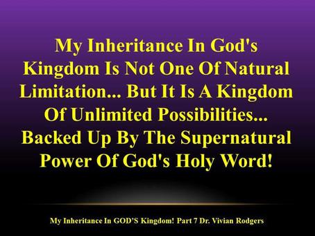 Your Inheritance In God's Kingdom