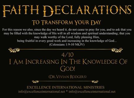 Faith Declarations No.4