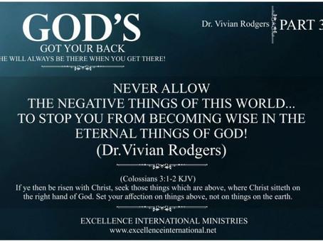 God's Got Your Back!