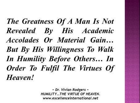 Hi Royal Saints Of God... Always remember that one of the greatest virtues of heaven is humlity...