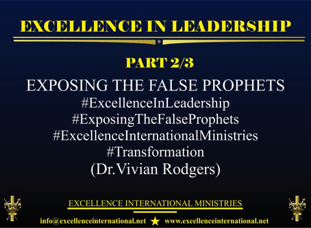 Excellence In Leadership Part 2/3