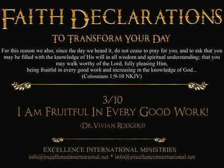 Faith Declarations No.3