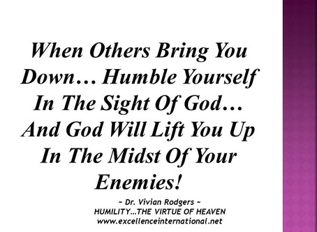 Humility... The Virtue Of Heaven!