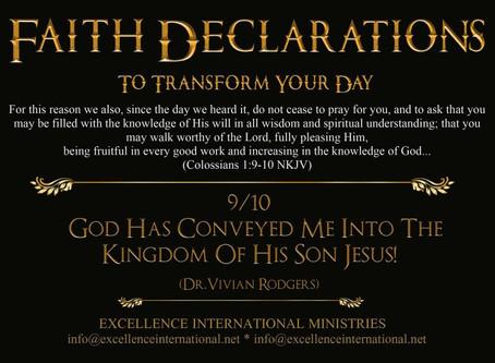Faith Declarations No.9