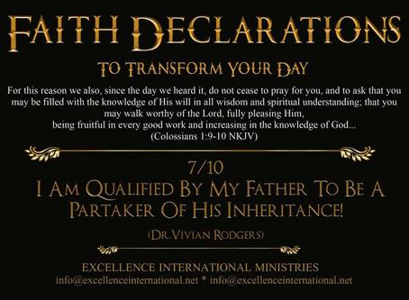 Faith Declarations No.7