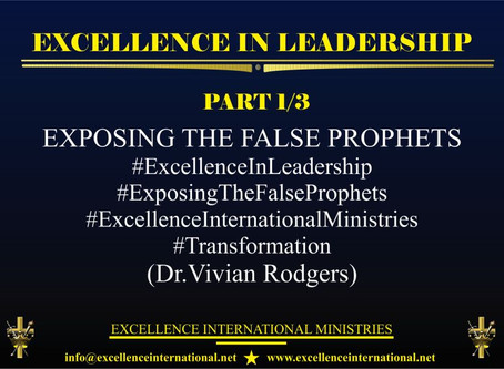 Excellence In Leadership Part1/3
