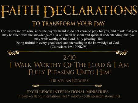 Faith Declarations No.2