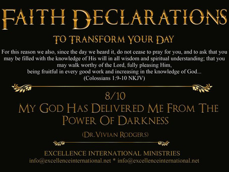 Faith Declarations No.8