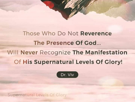 Supernatural Levels Of Glory!