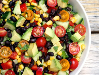 Bean, Corn, Avocado Summertime Salad