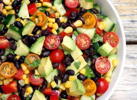 Bean, Corn, Avocado Summertime Salad