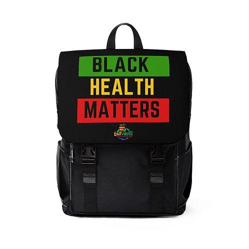 Black Health Matters: Unisex Casual Shoulder Backpack